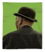 Man With A Bowler Hat Fleece Blanket