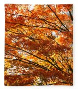 Maple Tree Foliage Fleece Blanket