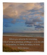 2- Marcus Aurelius Fleece Blanket