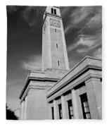 Memorial Tower - Lsu Bw Fleece Blanket