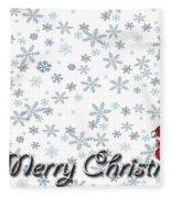 Christmas Card 8 Fleece Blanket