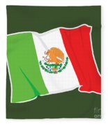 Mexico Flag Fleece Blanket