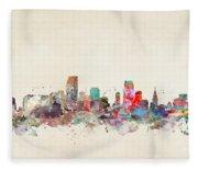 Miami Florida Fleece Blanket