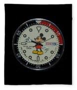 Mickey Mouse Watch Face Fleece Blanket