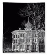 Milam County Courthouse Fleece Blanket