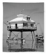Mobile Bay Lighthouse Fleece Blanket
