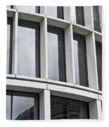 Modern Office Building Fleece Blanket