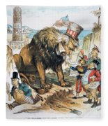 Monroe Doctrine: Cartoon Fleece Blanket