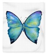 2 Morpho Aega Butterfly Fleece Blanket