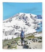 Mount Rainier National Park Fleece Blanket