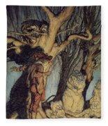 Mystical Forest Fleece Blanket