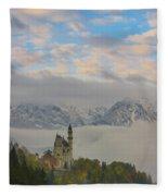 Neuschwanstein Castle Landscape Fleece Blanket