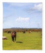 New Forest - Hampshire - Uk Fleece Blanket