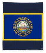 New Hampshire Flag Fleece Blanket