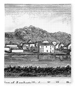 New Jersey, 1844 Fleece Blanket