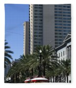 New Orleans Cable Car Fleece Blanket