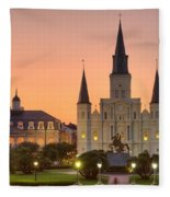 New Orleans St Louis Cathedral Fleece Blanket
