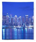 New York City Ny Fleece Blanket