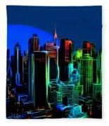New York Colors Fleece Blanket