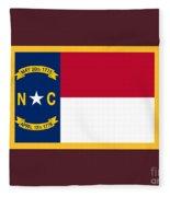 North Carolina Flag. Fleece Blanket