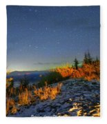 Northern Lights At Mount Pilchuck Fleece Blanket