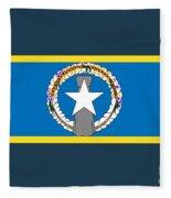 Northern Marianas Flag Fleece Blanket