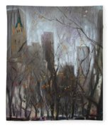 Nyc Central Park Fleece Blanket