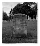 Odd Fellows Cemetery Fleece Blanket