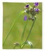 Ohio Spiderwort Fleece Blanket