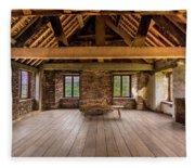 Old House Interior Fleece Blanket