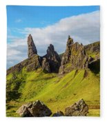 Old Man Of Storr, Isle Of Skye, Scotland Fleece Blanket
