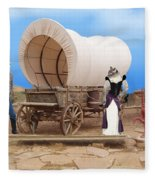 Old West Cats  Fleece Blanket