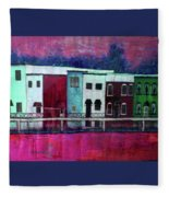 On The Banks Of The Grand River Fleece Blanket