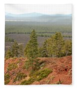Oregon Landscape - View From Lava Butte Fleece Blanket