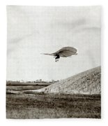 Otto Lilienthal (1848-1896) Fleece Blanket