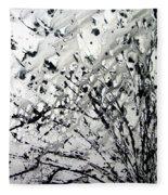 Painting Noir Fleece Blanket
