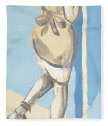 Painting Of A Young Woman Fleece Blanket