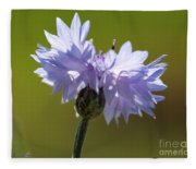 Pale Blue Bachelor Button From The Double Ball Mix Fleece Blanket