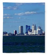 Panoramic View Of Atlantic City, New Jersey Fleece Blanket