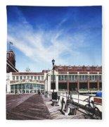 Paramount Theatre - Asbury Park Boardwalk Fleece Blanket