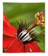 Passionate Flower Fleece Blanket