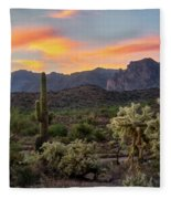 Pastel Desert Skies  Fleece Blanket