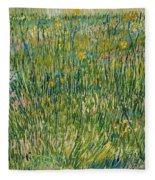 Patch Of Grass Fleece Blanket