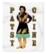 Patsy Cline Fleece Blanket