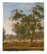 Patterdale Landscape With Cattle Fleece Blanket