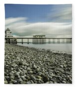 Penarth Pier 6 Fleece Blanket