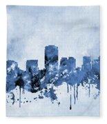 Phoenix Skyline-blue Fleece Blanket
