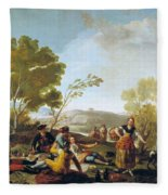 Picnic On The Banks Of The Manzanares Fleece Blanket