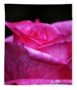 Pink Rose Fleece Blanket