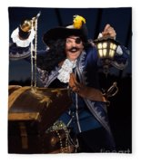 Pirate With A Treasure Chest Fleece Blanket